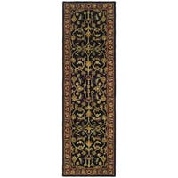 Safavieh Handmade Heritage Timeless Traditional Black/ Red Wool Runner (2'3 x 10')