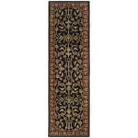 Safavieh Handmade Heritage Timeless Traditional Black/ Red Wool Runner Rug - 2'3 x 10'