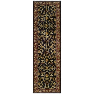 Safavieh Handmade Heritage Heirloom Black/ Red Wool Runner (2'3 x 8')