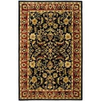 "Safavieh Handmade Heritage Timeless Traditional Black/ Red Wool Rug - 9'-6"" x 13'-6"""