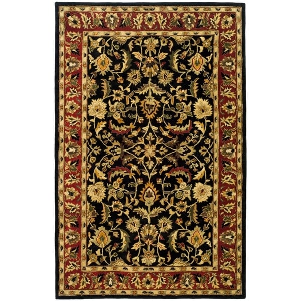 "Safavieh Handmade Heritage Timeless Traditional Black/ Red Wool Rug - 9'6"" x 13'6"""