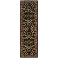 Safavieh Handmade Heritage Timeless Traditional Black/ Red Wool Runner Rug - 2'3 x 14'