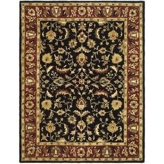Safavieh Handmade Heritage Timeless Traditional Black/ Red Wool Rug (4' x 6')