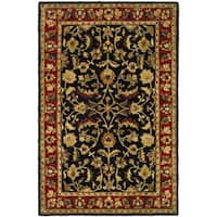 Safavieh Handmade Heritage Timeless Traditional Black/ Red Wool Rug - 4' x 6'