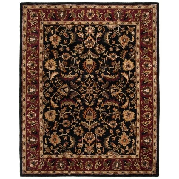 "Safavieh Handmade Heritage Timeless Traditional Black/ Red Wool Rug - 7'-6"" x 9'-6"""