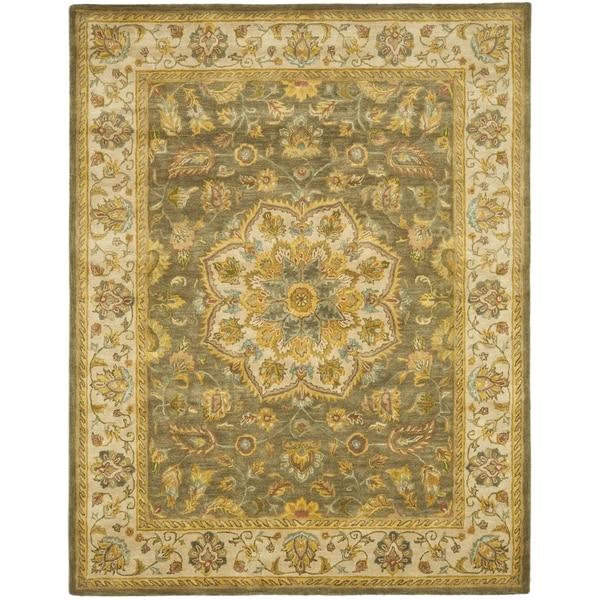 Safavieh Handmade Heritage Timeless Traditional Taupe/ Ivory Wool Rug (9'6 x 13'6)