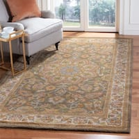 "Safavieh Handmade Heritage Timeless Traditional Taupe/ Ivory Wool Rug - 9'6"" x 13'6"""