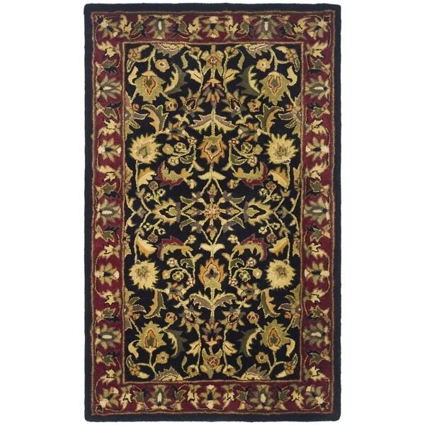 Safavieh Handmade Heritage Timeless Traditional Black/ Red Wool Rug (3' x 5')