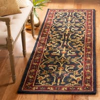 Safavieh Handmade Heritage Timeless Traditional Black/ Red Wool Rug - 3' x 5'