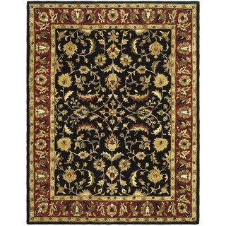 Safavieh Handmade Heritage Timeless Traditional Black/ Red Wool Rug (8'3 x 11')