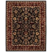 "Safavieh Handmade Heritage Timeless Traditional Black/ Red Wool Rug - 8'-3"" x 11'"
