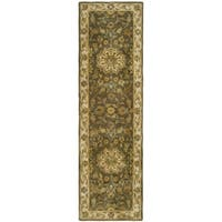 Safavieh Handmade Heritage Timeless Traditional Taupe/ Ivory Wool Runner (2'3 x 12')
