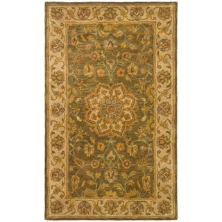 Safavieh Handmade Heritage Timeless Traditional Taupe/ Ivory Wool Rug (3' x 5')