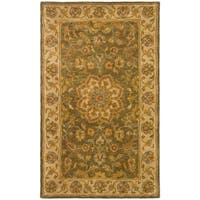 Safavieh Handmade Heritage Timeless Traditional Taupe/ Ivory Wool Rug - 3' x 5'