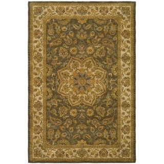 Safavieh Handmade Heritage Timeless Traditional Taupe/ Ivory Wool Rug (6' x 9')