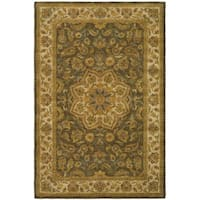 Safavieh Handmade Heritage Timeless Traditional Taupe/ Ivory Wool Rug - 6' x 9'