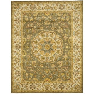Safavieh Handmade Heritage Timeless Traditional Taupe/ Ivory Wool Rug (7'6 x 9'6)
