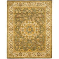 "Safavieh Handmade Heritage Timeless Traditional Taupe/ Ivory Wool Rug - 7'-6"" x 9'-6"""