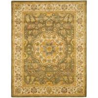 "Safavieh Handmade Heritage Timeless Traditional Taupe/ Ivory Wool Rug - 7'6"" x 9'6"""