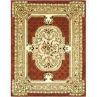 Safavieh Handmade Classic Burgundy/ Beige Wool Rug - 6' x 9'