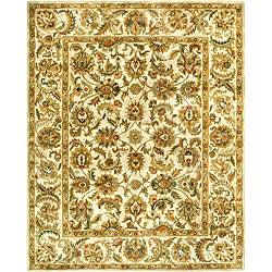 Safavieh Handmade Classic Ivory Wool Rug (7'6 x 9'6)