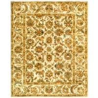 """Safavieh Handmade Classic Ivory Wool Rug - 7'-6"""" x 9'-6"""""""