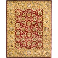 Safavieh Handmade Classic Red/ Gold Wool Rug - 6' x 9'