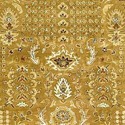 Safavieh Handmade Classic Gold/ Ivory Wool Rug (5' x 8') - Thumbnail 2