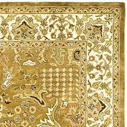 Safavieh Handmade Classic Gold/ Ivory Wool Rug (7'6 x 9'6) - Thumbnail 1