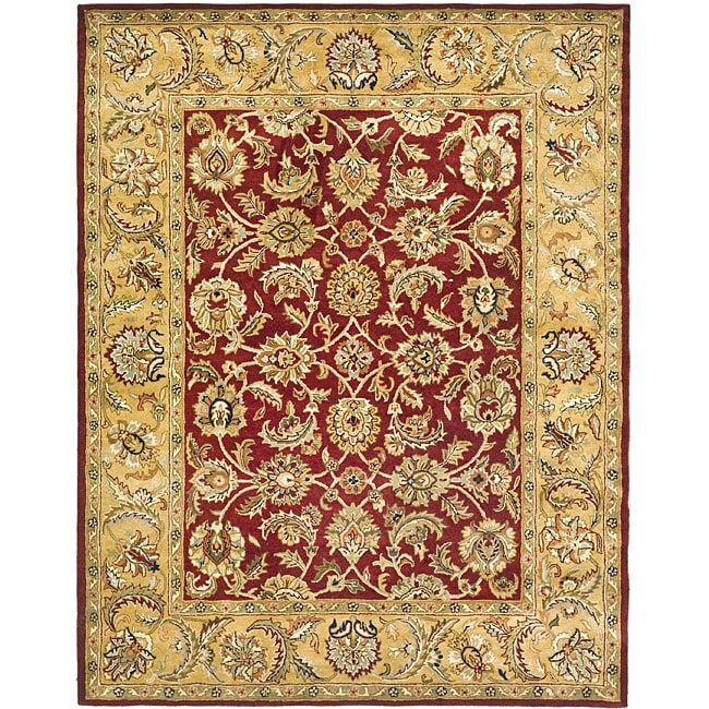 Safavieh Handmade Classic Red/ Gold Wool Rug - 7'6 x 9'6
