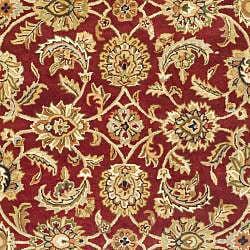 Safavieh Handmade Classic Red/ Gold Wool Rug (7'6 x 9'6) - Thumbnail 2