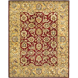 Safavieh Handmade Classic Red/ Gold Wool Rug - 7'6 x 9'6 - Thumbnail 0