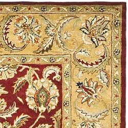 Safavieh Handmade Classic Red/ Gold Wool Rug (8'3 x 11') - Thumbnail 1