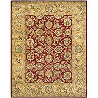 Safavieh Handmade Classic Red/ Gold Wool Rug - 8'3 x 11'