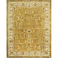 Safavieh Handmade Classic Gold/ Ivory Wool Rug (8'3 x 11')