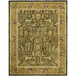 Safavieh Handmade Classic Light Green/ Gold Wool Rug (5' x 8')