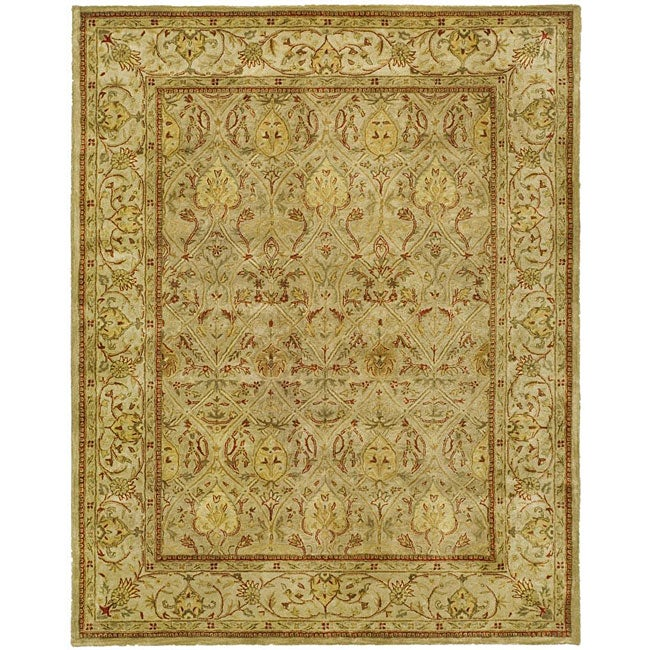 Safavieh Handmade Mahal Light Brown/ Beige N.Z. Wool Rug - 9'6 x 13'6