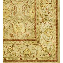 Safavieh Handmade Mahal Light Brown/ Beige N.Z. Wool Rug (9'6 x 13'6)