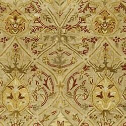 Safavieh Handmade Mahal Light Brown/ Beige N.Z. Wool Rug (8' Square)
