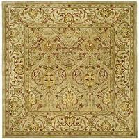 Safavieh Handmade Mahal Light Brown/ Beige N.Z. Wool Rug - 8' x 8' Square