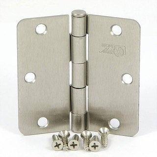 Stone Mill Satin Nickel 3.5-inch Door Hinges (Box of 2)