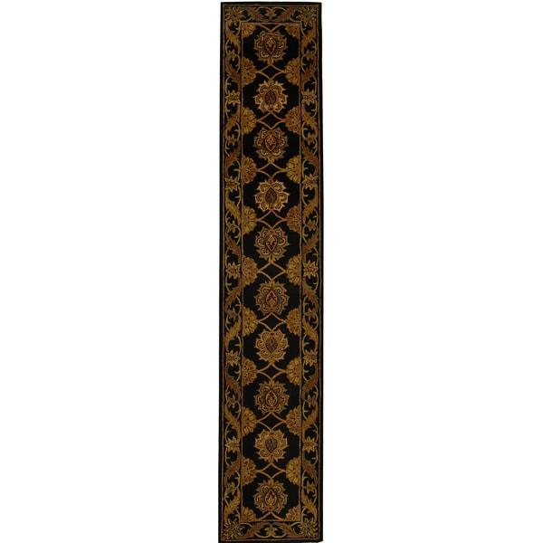 Safavieh Handmade Heritage Timeless Traditional Black Wool Runner (2'3 x 20')