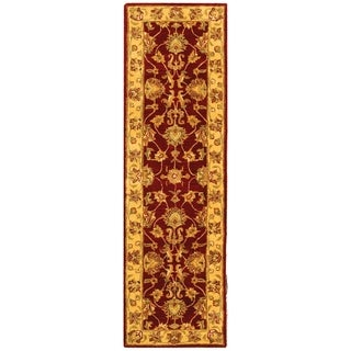 Safavieh Handmade Heritage Traditional Kerman Red/ Gold Wool Runner (2'3 x 20')
