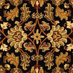 Safavieh Handmade Heritage Traditional Kashan Black/ Beige Wool Runner (2'3 x 14') - Thumbnail 2