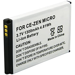 INSTEN Replacement Battery for Creative Zen Micro / MicroPhoto - Thumbnail 1
