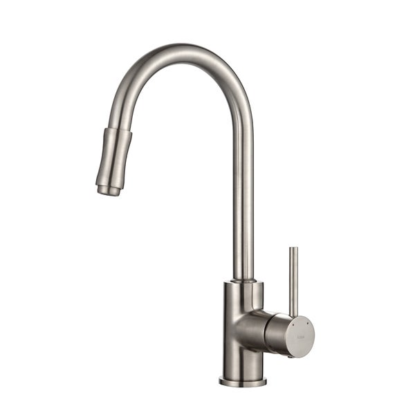 KRAUS Single-Handle Kitchen Faucet with Pull Down Dual-Function Sprayer in Satin Nickel