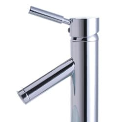 KRAUS Sheven Single Hole Single-Handle Vessel Bathroom Faucet with Matching Pop-Up Drain in Satin Nickel