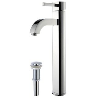 KRAUS Ramus Single Hole Single-Handle Vessel Bathroom Faucet with Pop-Up Drain (2 options available)