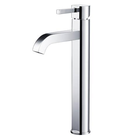 KRAUS Ramus 1-Handle 1-Hole Vessel Bathroom Faucet w/ Pop Up Drain