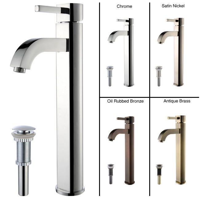 KRAUS Ramus Single Hole Single-Handle Vessel Bathroom Faucet with Pop-Up Drain - Thumbnail 0